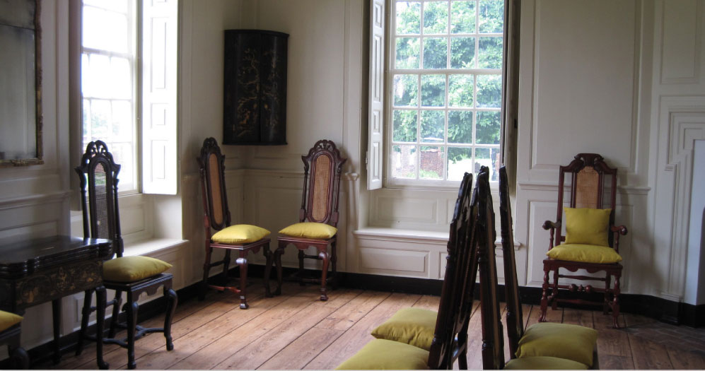 A portion of the interior of the William Trent House.