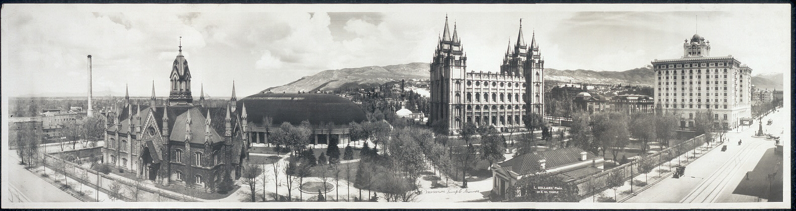 1912 Temple Square (Assembly Hall is located on the left).