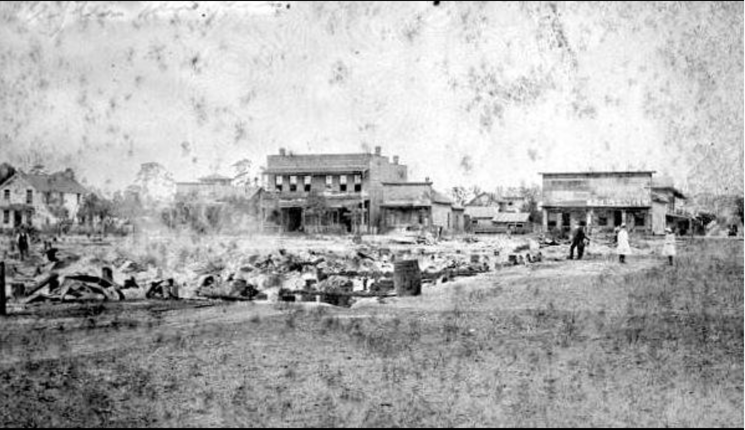 The ruins of downtown DeLand after the fire.