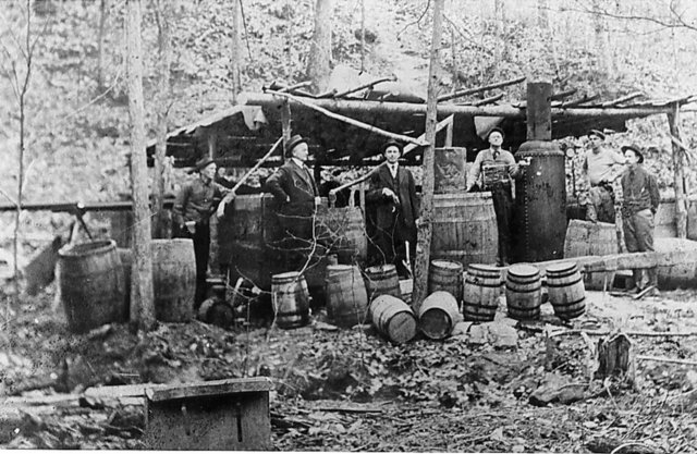 Bootleggers in the central Florida woods during the Prohibition.