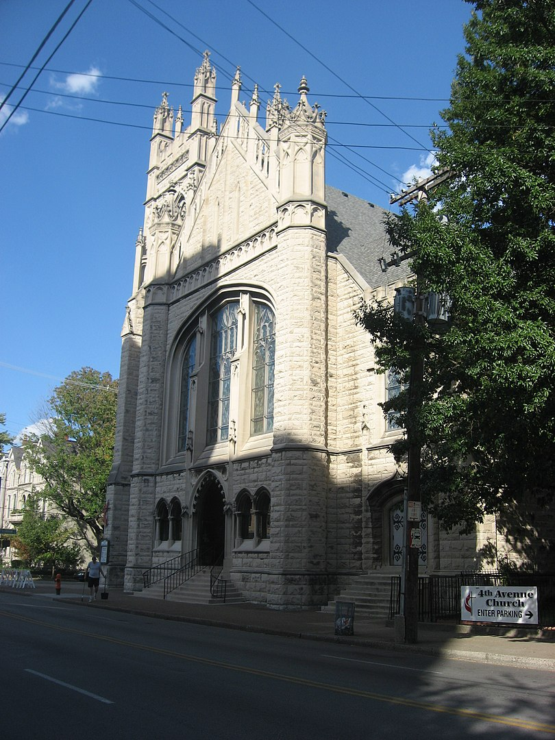 Front of the Fourth Avenue Methodist Church in Old Louisville