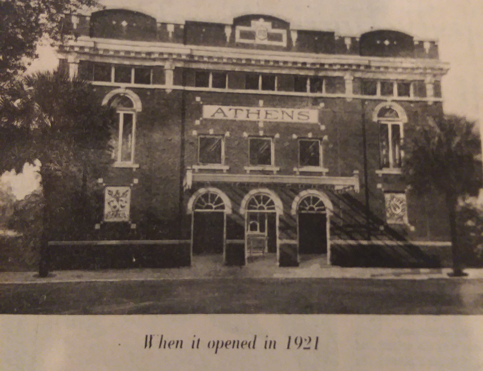 Athens Theatre in 1921 (source: West Volusia Historical Society)