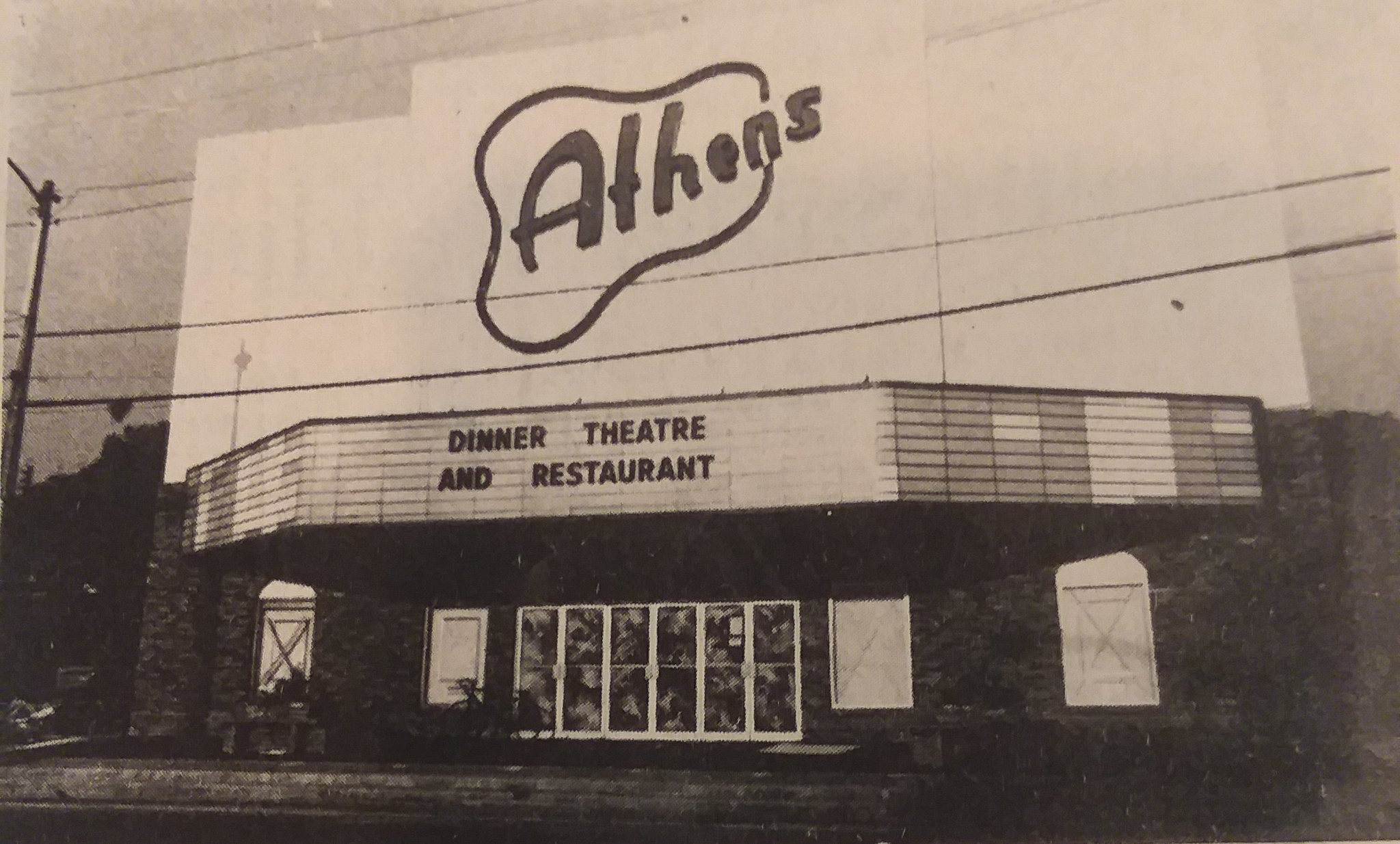 Athens Dinner Theatre 1978 (source: West Volusia Historical Society)