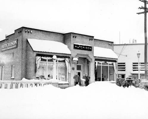 The exterior of Hutchison Studio, taken January 29, 1937, by R.R. Hutchison. Courtesy WSU Special Collections. http://content.libraries.wsu.edu/cdm/singleitem/collection/hutchison/id/9/rec/1