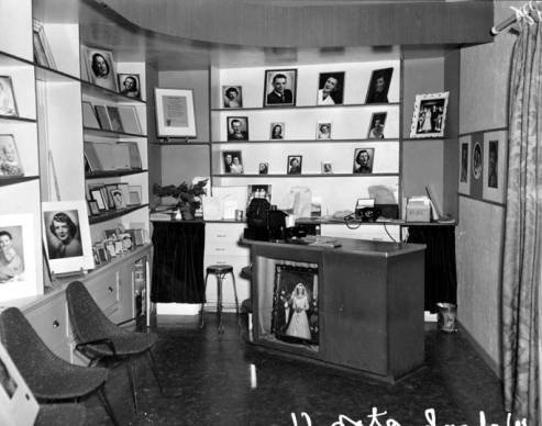 The inside of Hutchison Photo Studios, taken October 17, 1953, by R.R. Hutchison. Courtesy WSU Special Collections. http://content.libraries.wsu.edu/cdm/singleitem/collection/hutchison/id/227/rec/1