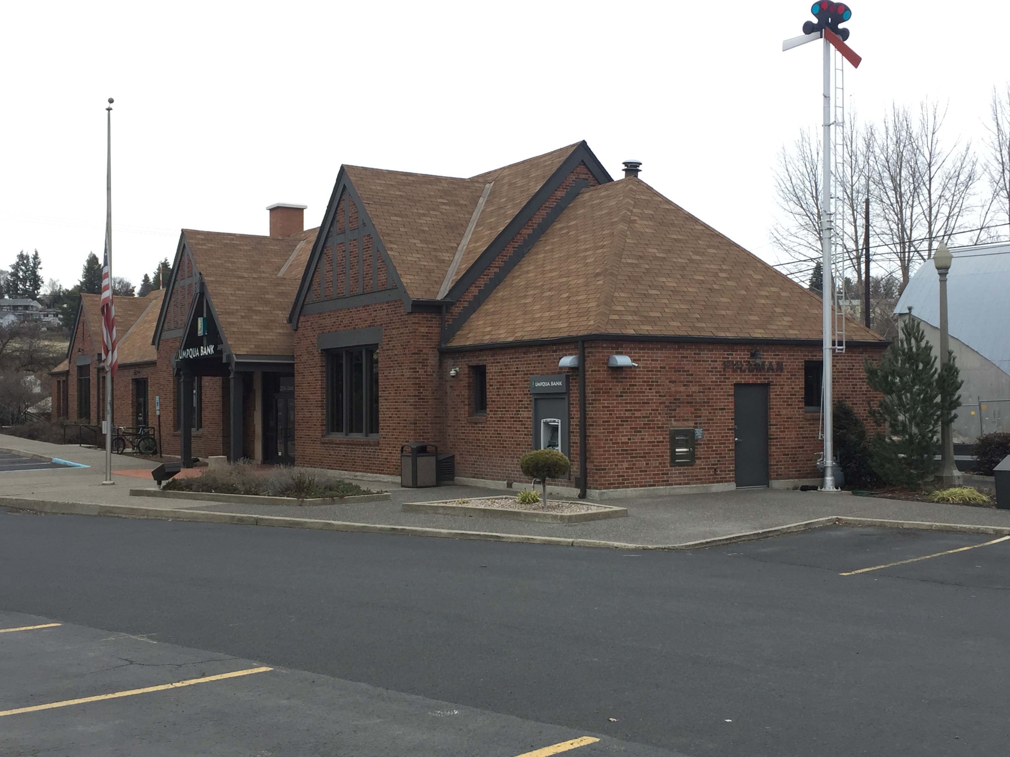 "View of the former Union Pacific depot, also known as the ""Cougar Depot."" Photo taken February 2018."