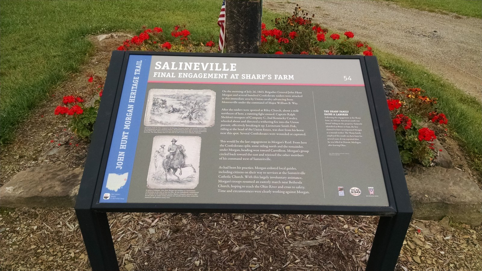 Detailed Marker created by the Ohio Historical Society