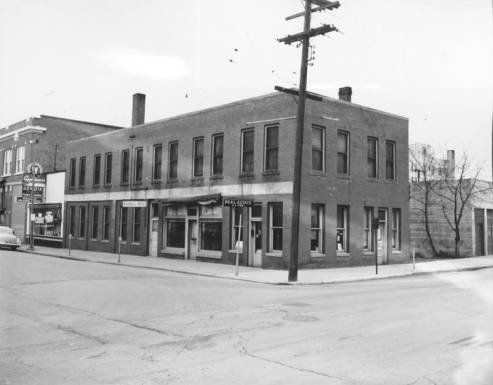 1954 view of the Russell Building for Moose Lodge. Taken by R.R. Hutchison. Courtesy WSU Special Collections.