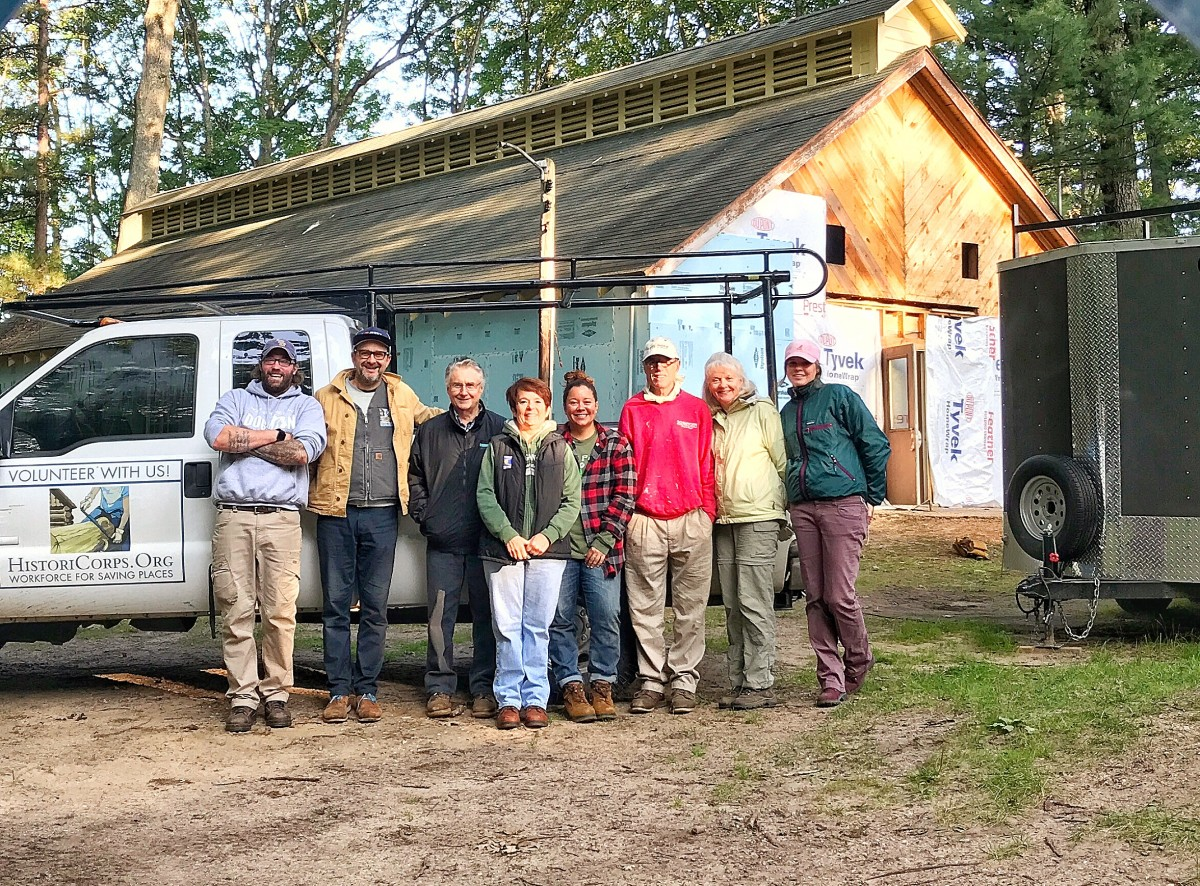 The 2017 HistoriCorps crew poses at Chittenden Nursery