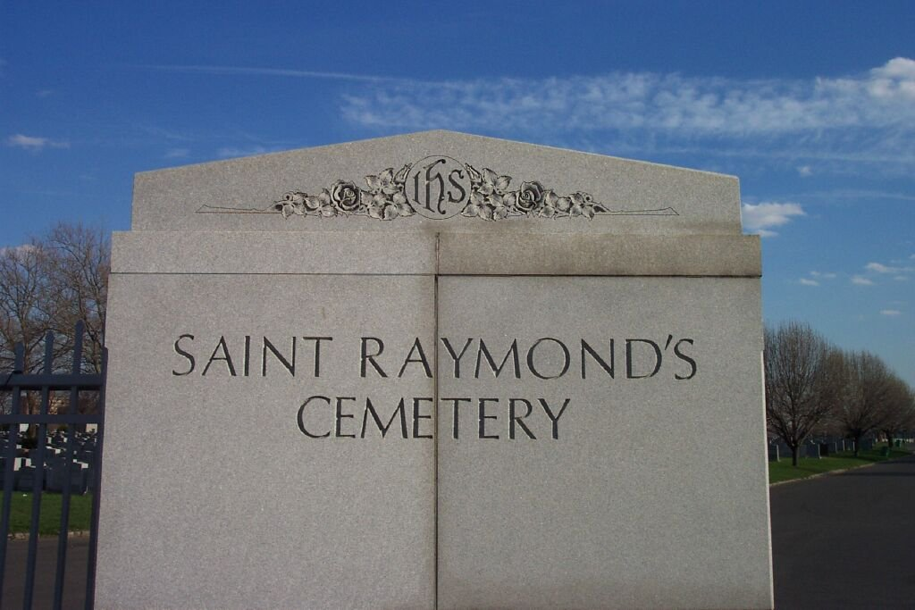 St. Raymond's New Cemetery is the final resting place to over half a million people. It is believed that this cemetery was chosen because it was inexpensive, but also provides isolated rest for the embattled singer.