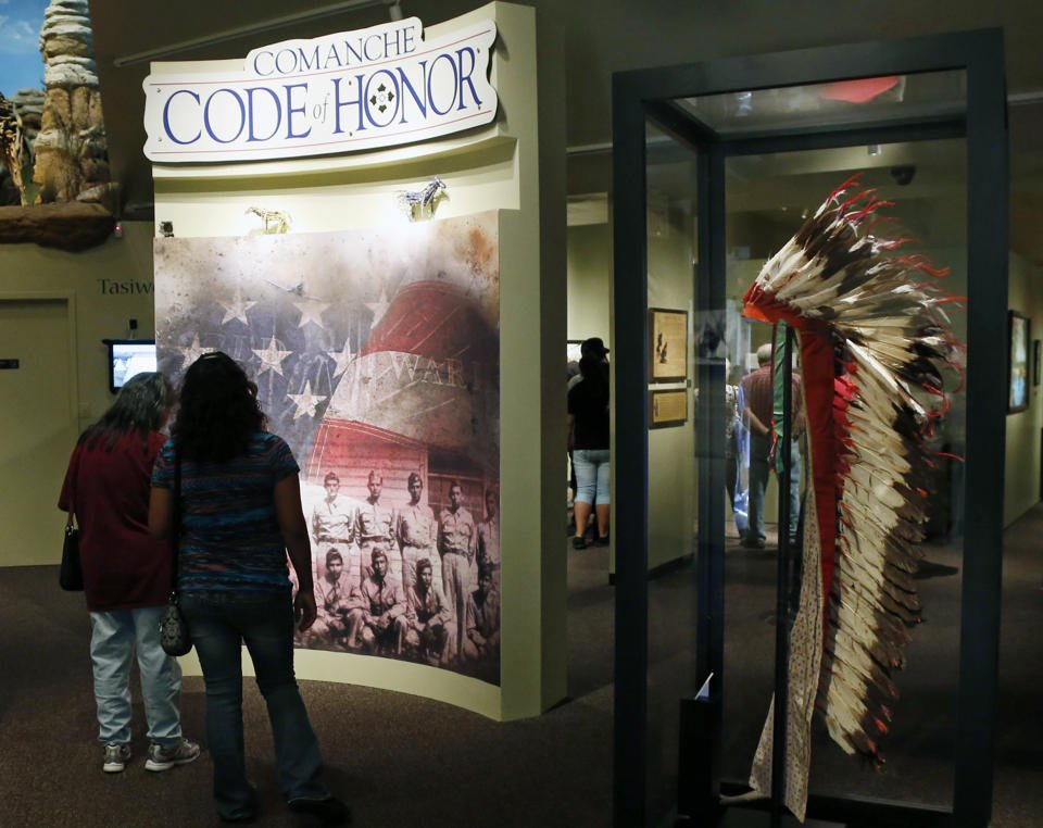 Entrance to the Comanche Code of Honor Code Talkers exhibit (image from Pinterest)