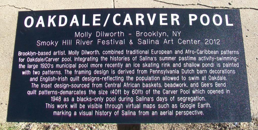 Oakdale/Carver Pool Marker