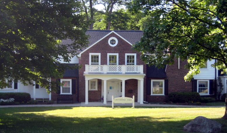 Lawnridge Hall, west elevation, 2020