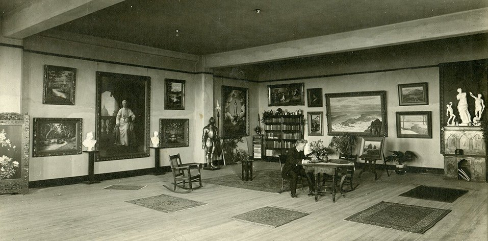 Museum gallery c. 1919 (image from MGMOA)