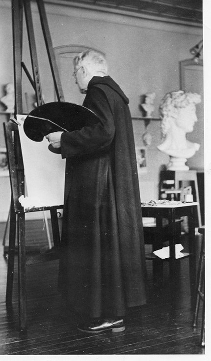Father Gerrer in his studio (image from MGMOA)