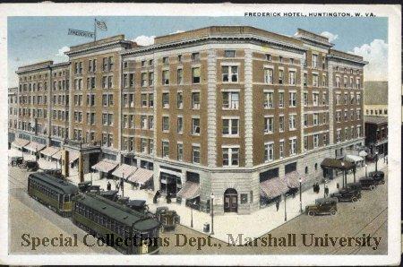 Vintage postcard of the Hotel Frederick
