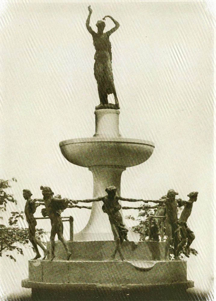 DePew Memorial Marquette that was designed by Karl Bitter. Circa 1915