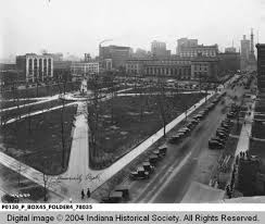 Indianapolis's city park around the time the DePew Memorial Foundation was installed. Courtesy of the Indiana Historical Society