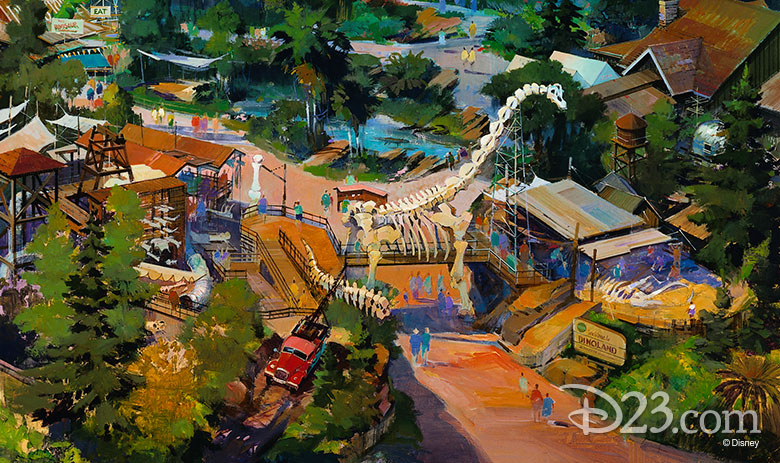 Concept Art for Dinoland USA