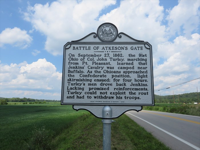 Historical Marker for the Battle of Atkeson's Gate