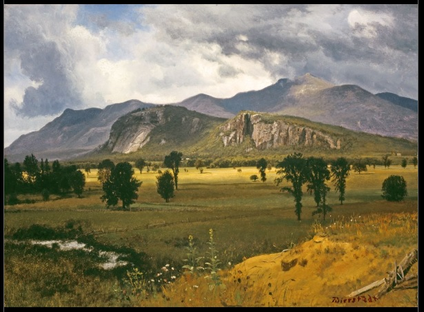 Moat Mountain, Intervale, New Hampshire. Circa 1862, by Albert Bierstadt