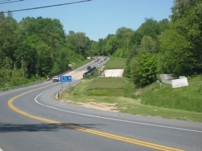 Here, you can see the original Sykesville Bypass Bridge on the right side.