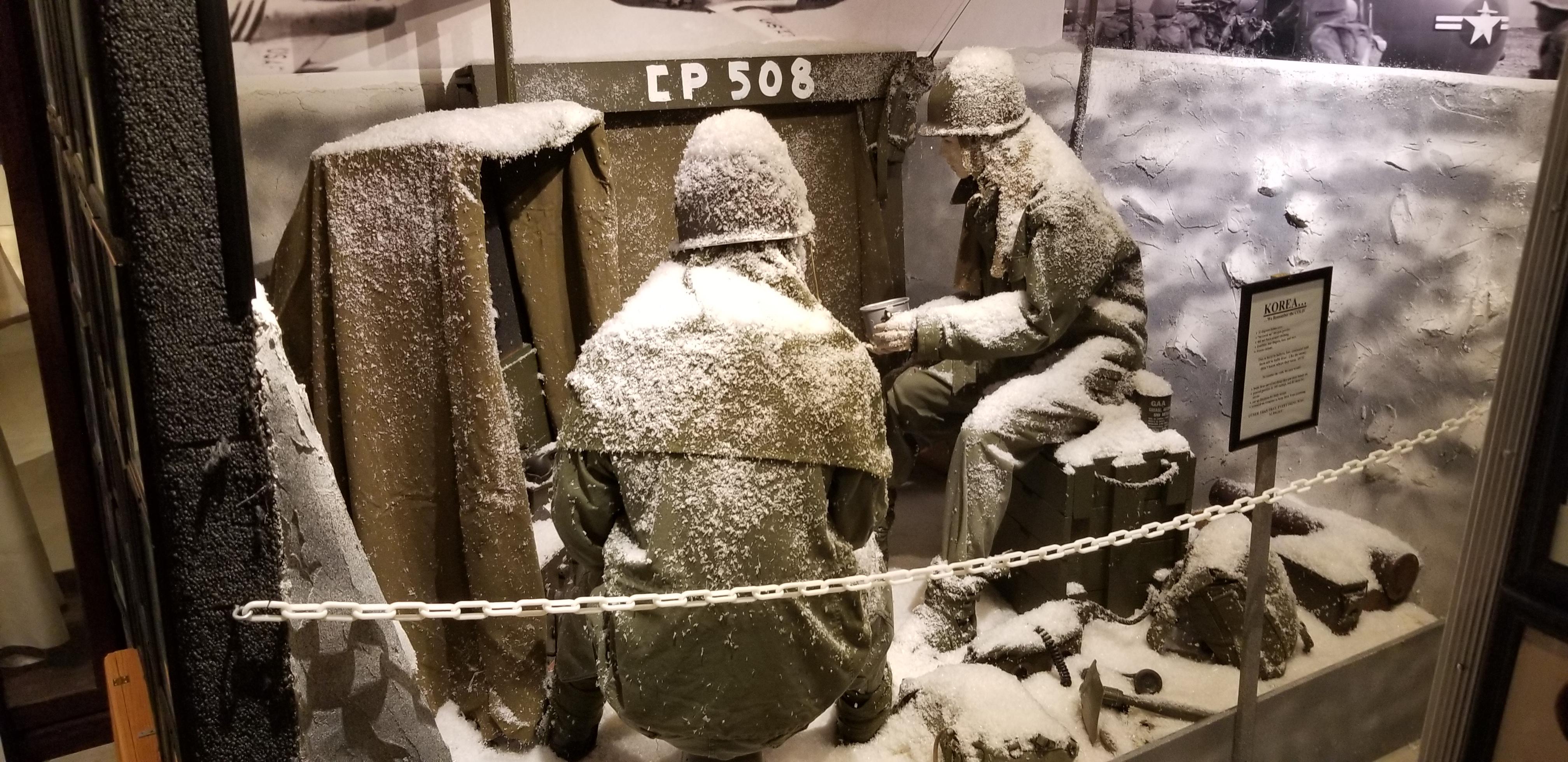 Korean War scenario of the it being 32 degrees below zero