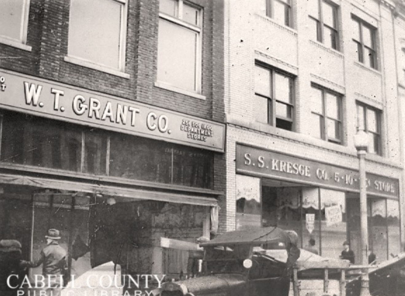 Grant's storefront during the 1937 flood
