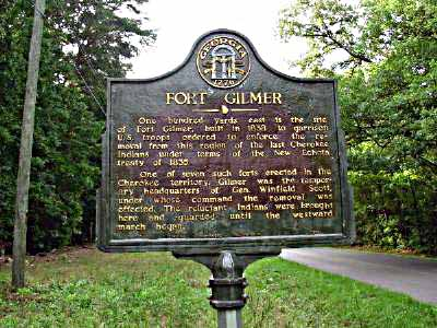 Fort Gilmer historical marker that gives some information on what is was about.