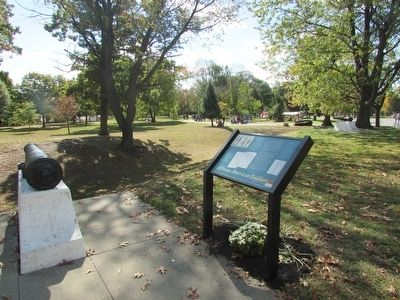This marker in Freedom Park commemorates black soldiers who fought with Colonel Greene.