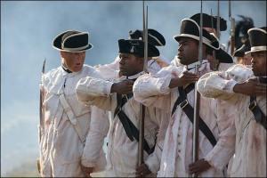 Historical reenactors depict the diversity of the First Rhode Island Regiment