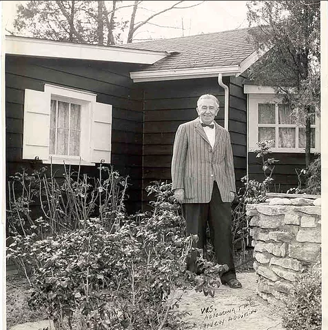 "W.S. Berger outside of ""Building Two."" Credit: Vent Haven Museum"