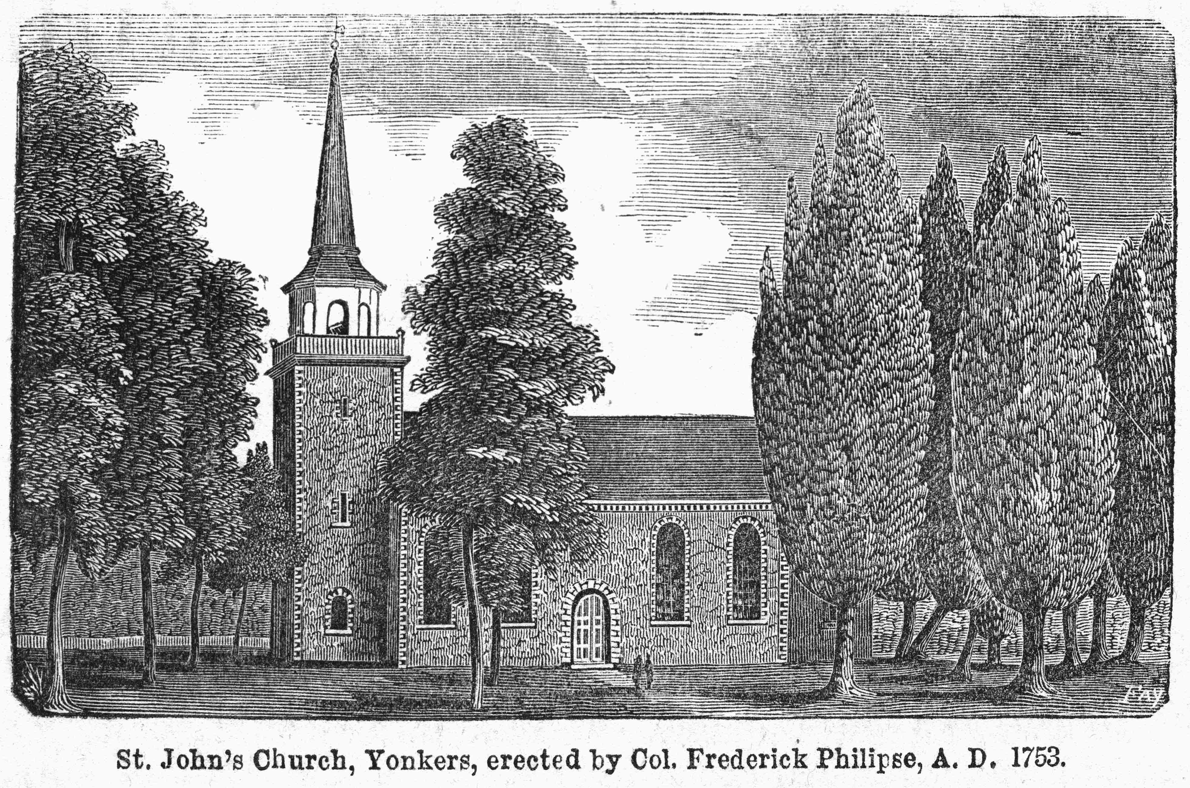 St. John's Episcopal Church, circa 1855.