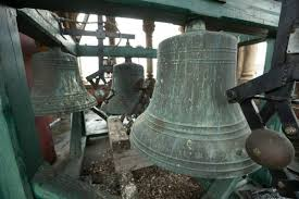 The bells inside the tower, which were donated by Mr. and Mrs. Hugh Wallace in 1904