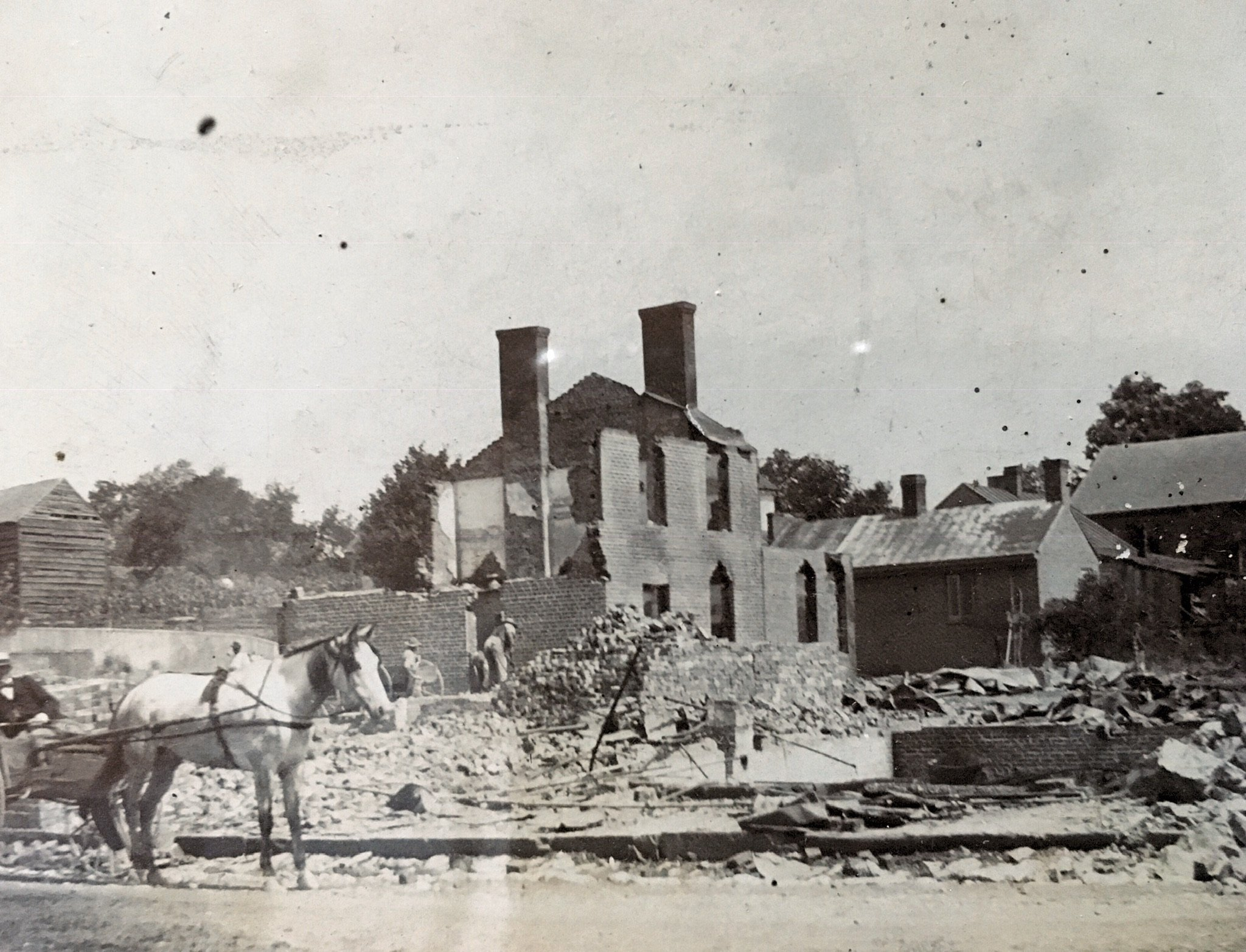 Aftermath of the fire of 1897. Photo courtesy of Judy Deegans.