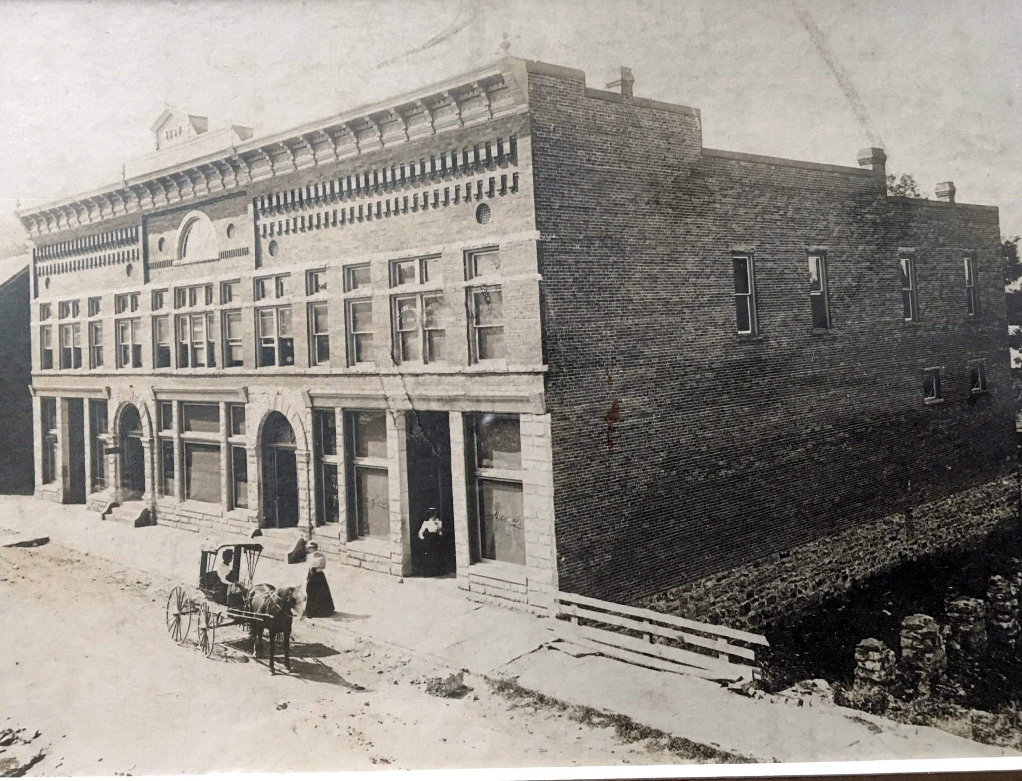 Greenbrier Valley Bank Building soon after completion in 1897. Photo courtesy of Judy Deegans.