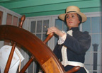 "Portland's Captain Mary Millicent Miller, a robotic mannequin, tells how she became ""a lady steamboat man,"" the first woman licensed as a steamboat master in America."