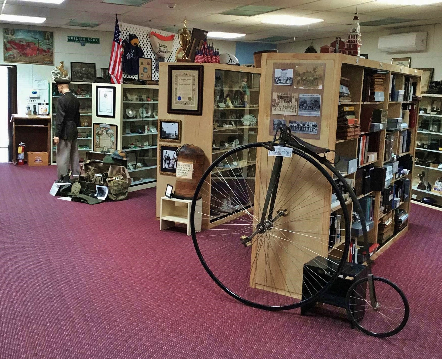 Latrobe Area Historical Society museum display room