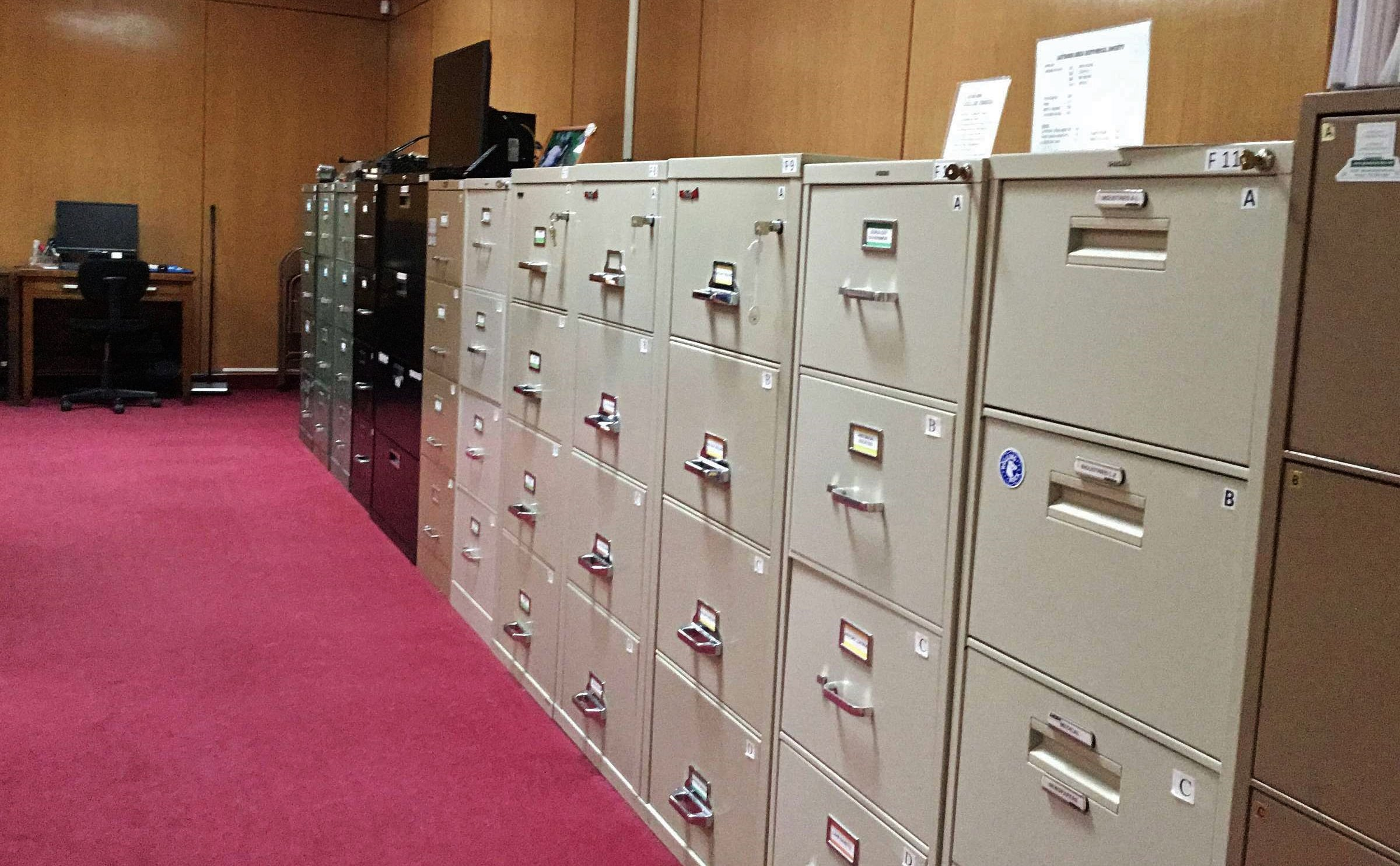 File cabinet collection for business, recreation, churches, communities, families, government, industry, organizations, schools, sports, transportation and wars
