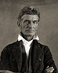 After recieving the news of his son's murder, John Brown took up arms to fight against the proslavery forces that invaded Osawatomie.