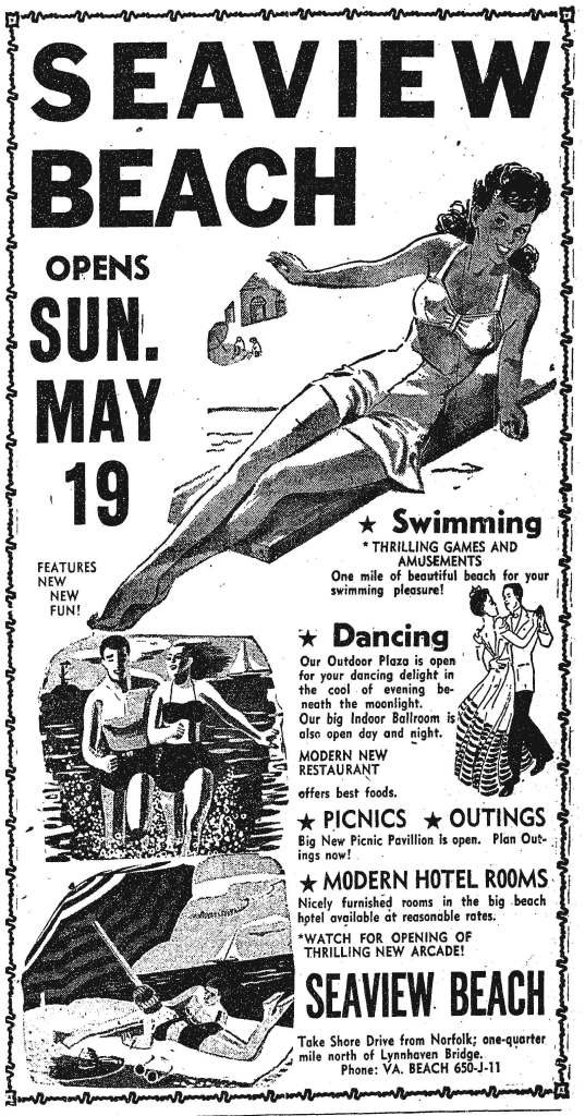 An advertisement for Seaview.  Norfolk Journal and Guide, May 18, 1946.
