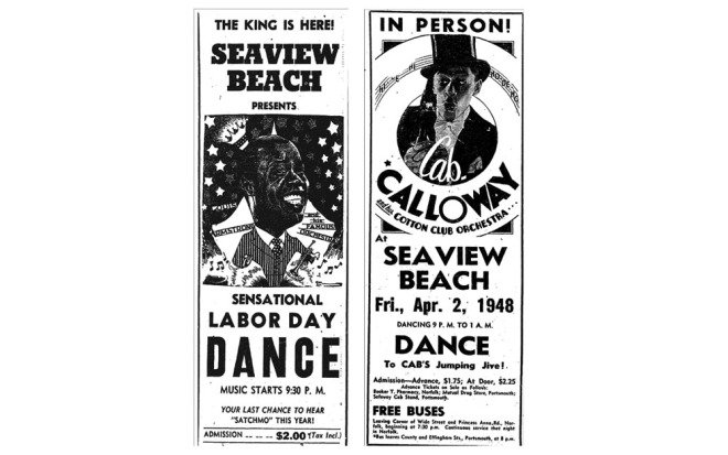 Ads for entertainers performing at Seaview  Norfolk Journal and Guide, August 31, 1946 Norfolk Journal and Guide, March 27, 1948