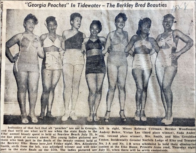 A picture from a Miss Tidewater beauty competition  ODU Special Collections and Archives