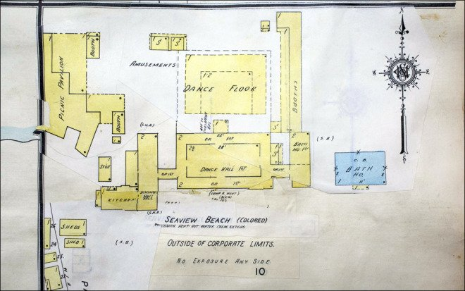 A layout of the Seaview resort facilities.  Sargeant Memorial Collection, Norfolk Public Library