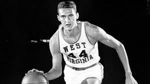Jerry West when he was playing at West Virginia University.