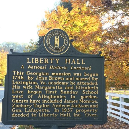 Liberty Hall Historic Site: Historical Marker