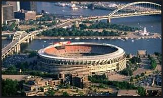 Three River Stadium was home to the Steelers and Pirates from 1970 to 2000. It was built as a replacement for Forbes Field.