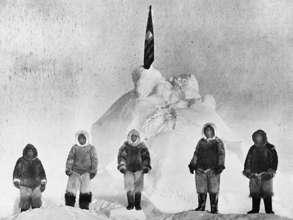 Admiral Peary's crew that reached the North Pole...perhaps: Inuits Oogeah, Ootah, Egingwah, Seego and Matthew Henson.