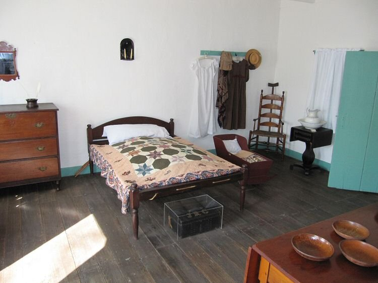 A bedroom in the museum