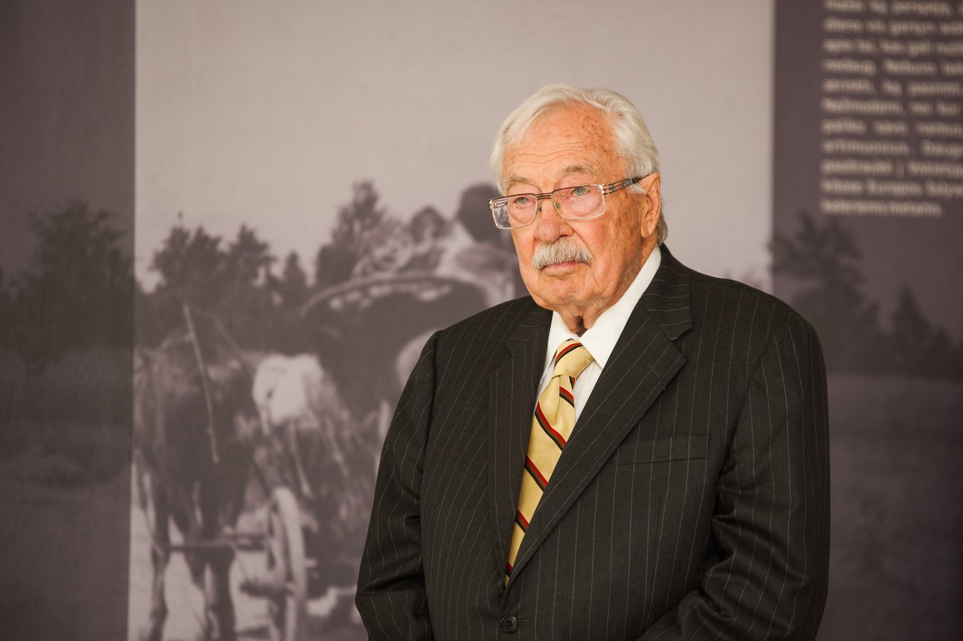 The musuem's founder, Stanley Balzekas Jr., came from a family of Lithuanian immigrants who were very active in their community and passionate for the cause of Lithuanian freedom. Image obtained from Pasaulio Lietuvis.